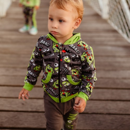 B1002 MONSTER KINDER SWEATJACKE
