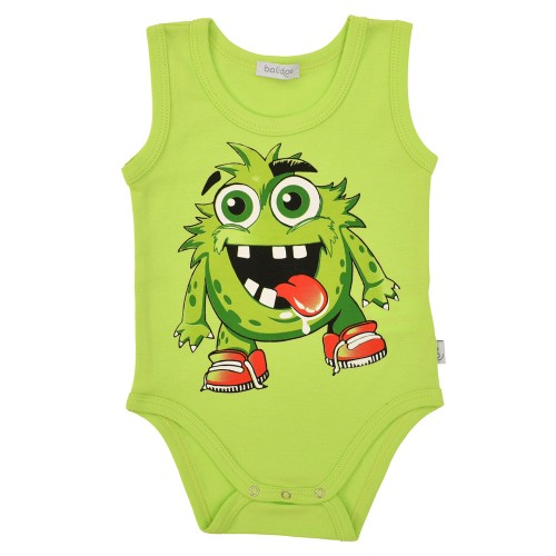 B6008 MONSTER BABY BODY ÄRMELLOS