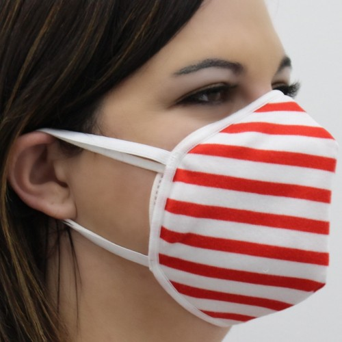 RED STRIPES BAUMWOLLMASKE/NON-MEDICAL MASKEN BEDECKUNG (FFP2)