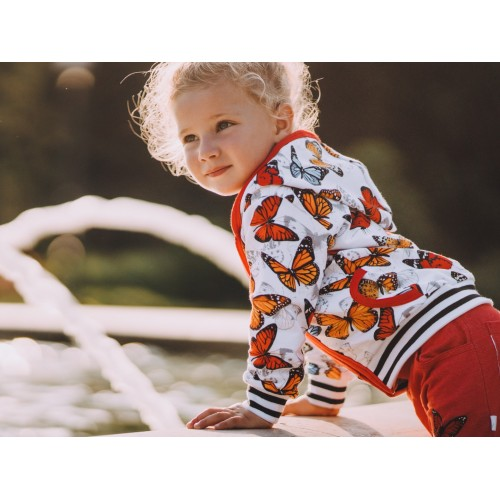 G1006 BUTTERFLIES KINDER SWEATJACKE
