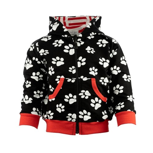 G1003 FOOTPRINT KINDER SWEATJACKE