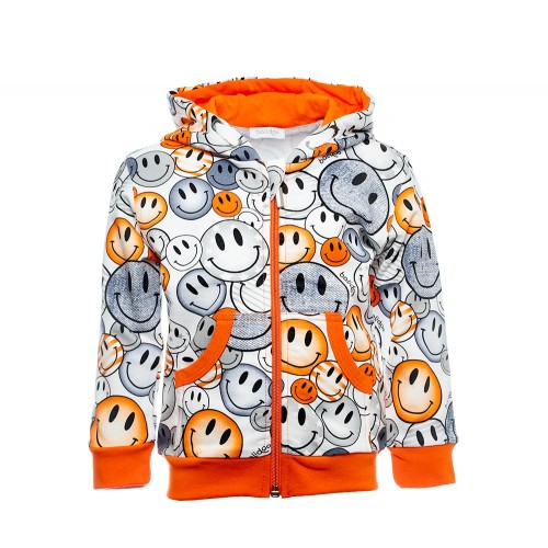 B1005 SMILEY KINDER SWEATJACKE