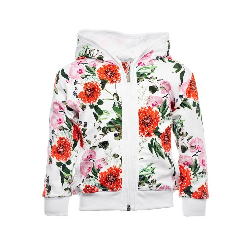 G1007 FLOWERS KINDER SWEATJACKE