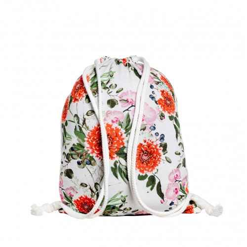 G8019 RED FLOWERS KINDERRUCKSACK